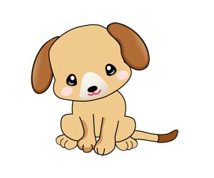 年賀状無料素材 年賀状のイラスト屋さん 可愛い犬のイラスト 1